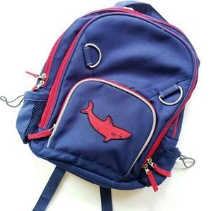 POTTERY BARN KIDS Navy & Red Shark Small Backpack